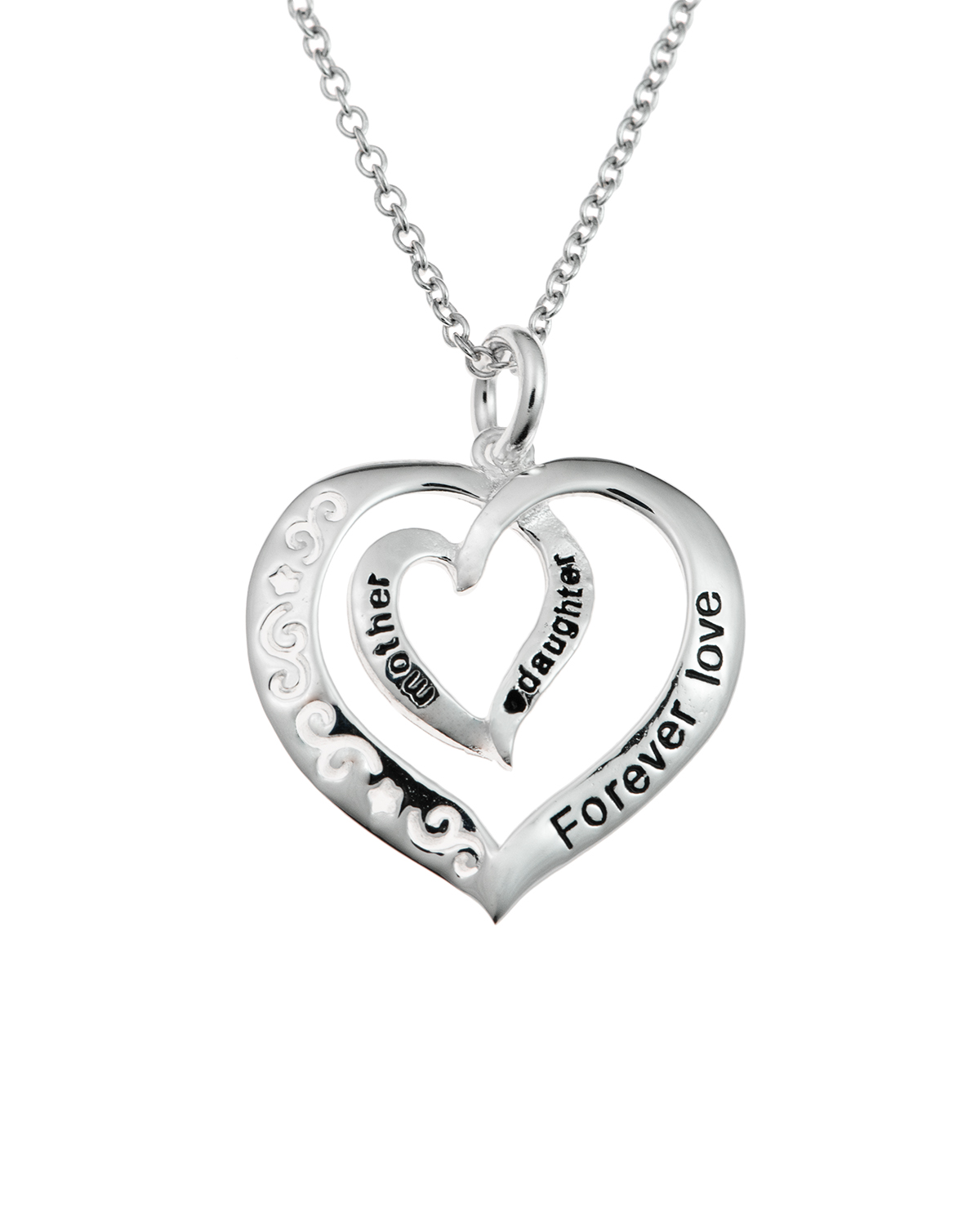 Mother & Daughter Forever Love Heart